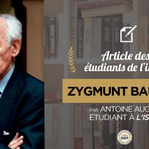 Article d'Histoire des idées politiques : Zygmunt Bauman