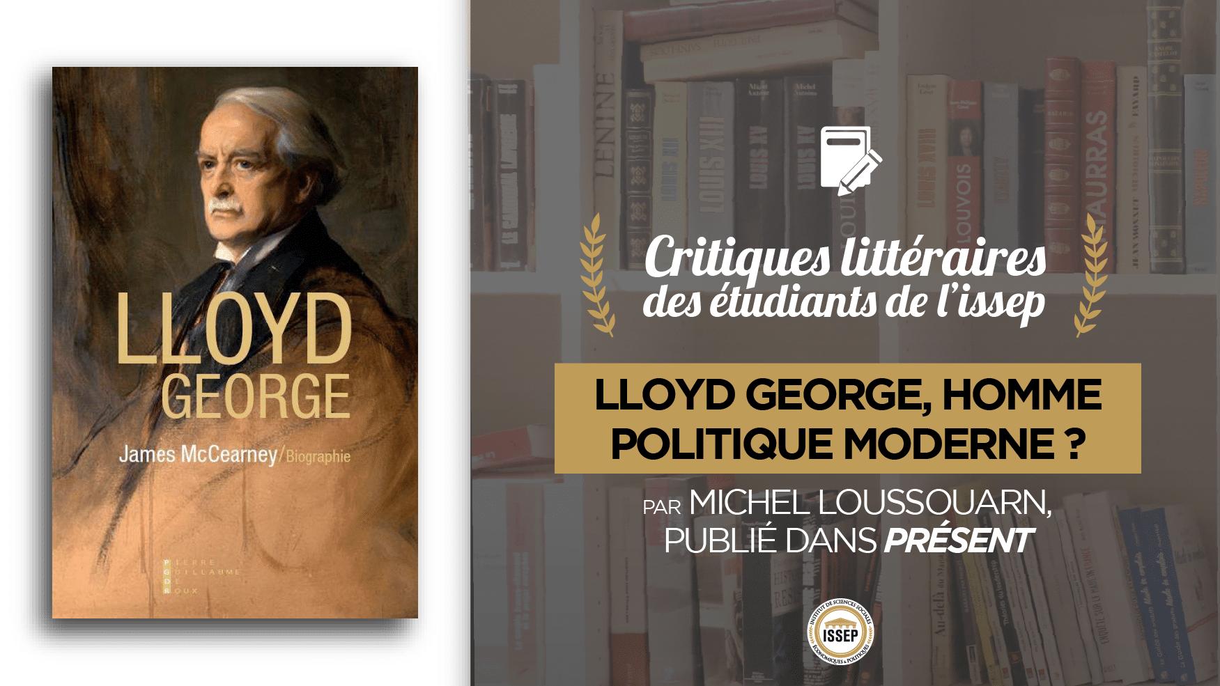 """Critique littéraire de """"David Lloyd George"""" par Michel Loussouarn, étudiant de l'ISSEP publié dans Présent"""