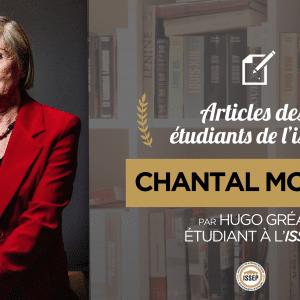 Article d'Histoire des idées politiques : Chantal Mouffe