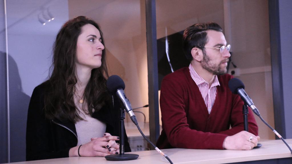 Les étudiants acteurs de l'école : interview dans le studio TV