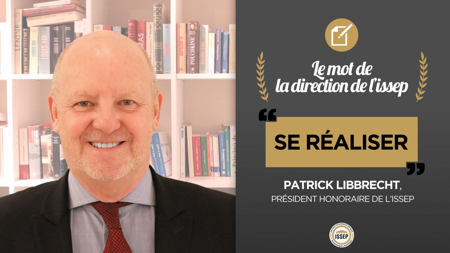 Le mot de Patrick Libbrecht, président honoraire de l'ISSEP