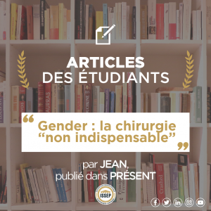 "Article des étudiants – Gender : la chirurgie ""non indispensable"""