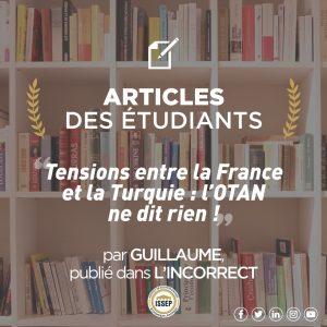 Article des étudiants | Tensions entre la France et la Turquie : l'OTAN ne dit rien !