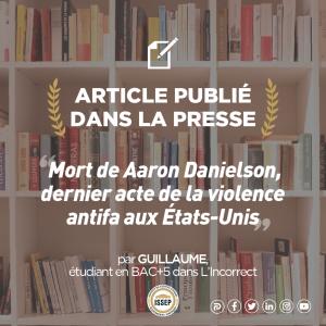 Article des étudiants | Mort de Aaron Danielson, dernier acte de la violence antifa aux États-Unis