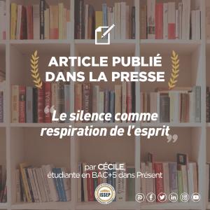 Article des étudiants | Le silence comme respiration de l'esprit