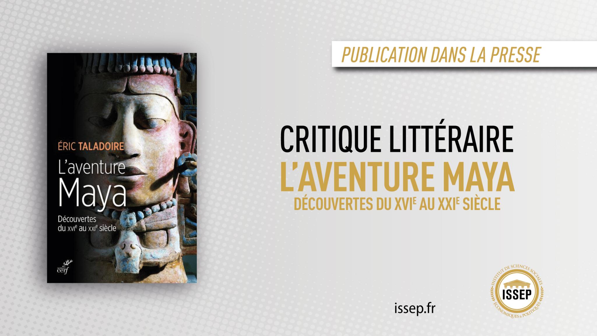 Critique littéraire ISSEP - L'aventure Maya