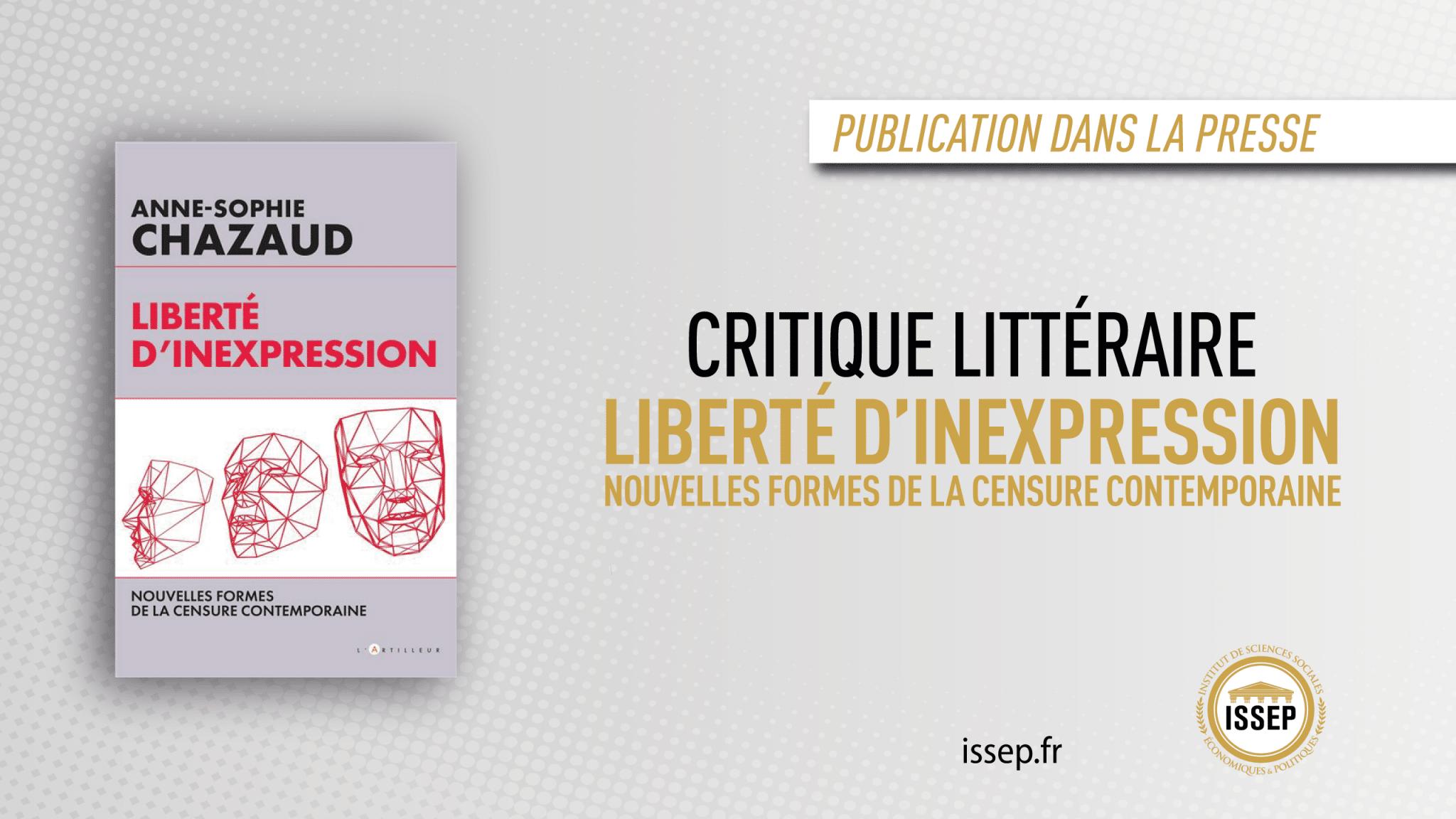 Liberté d'inexpression - critique littéraire ISSEP
