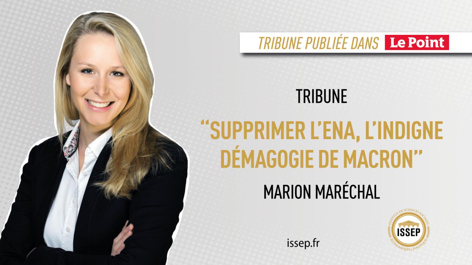 VISUEL TRIBUNE MARION MARÉCHAL LE POINT - ENA