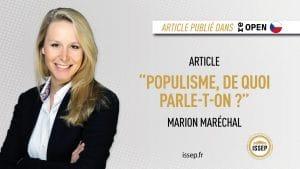 article marion maréchal think thank tchèque - populisme