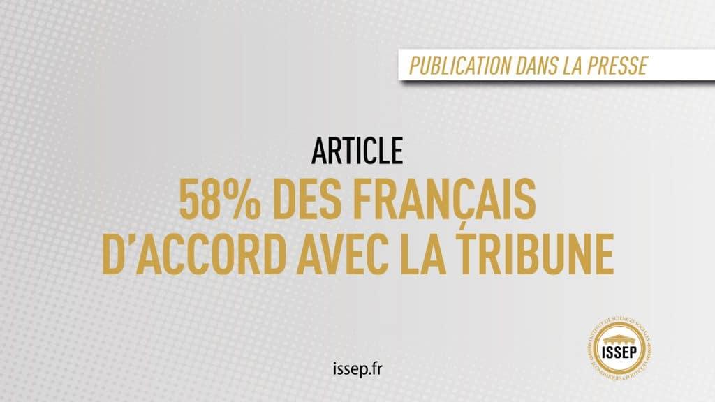 Article étudiant publié dans la presse - 58% des Français d'accord avec la tribune