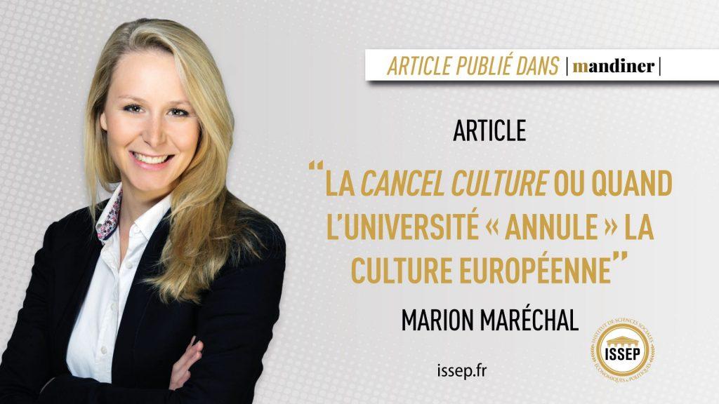 article marion maréchal Hongrois -cancel culture